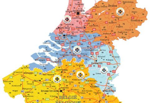 Benelux: the DHB distribution area